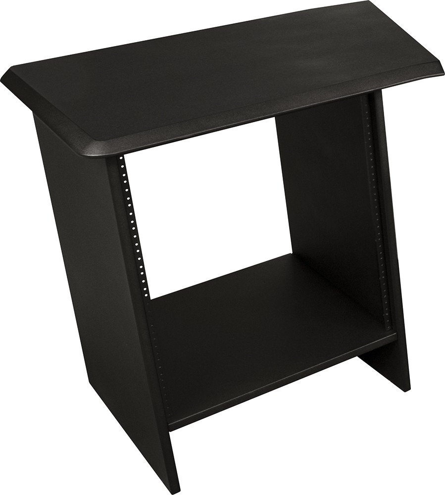 "Nucleus Series Studio Desk Table Top (Left Side) - Single 24"" Extension with 12 Space Rack"