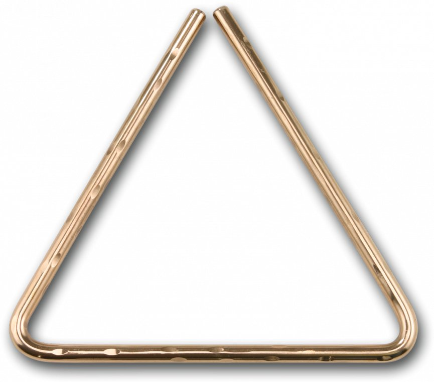 "10"" Hand-Hammered B8 Bronze Triangle"