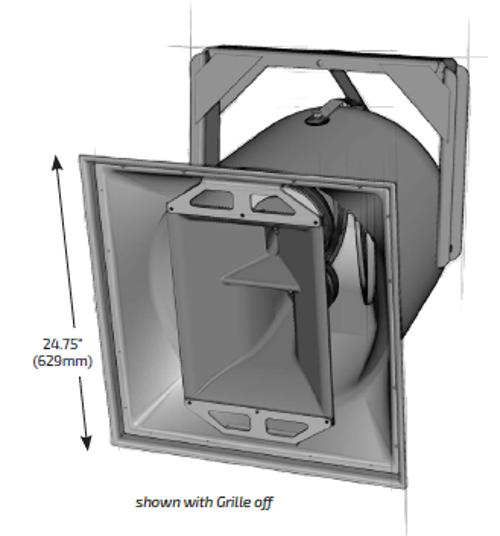 "12"" High Output Full-Range 3-Way Loudspeaker"