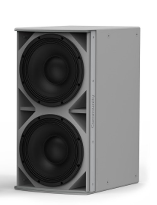 Medium Power Dual 12-Inch Subwoofer Weather-Resistant Grey