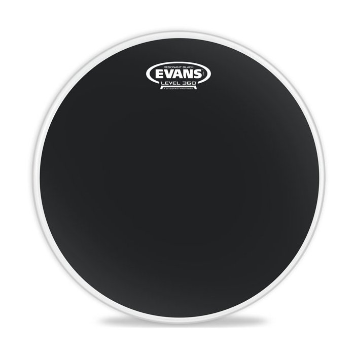 "16"" Resonant Black Tom Drum Head"