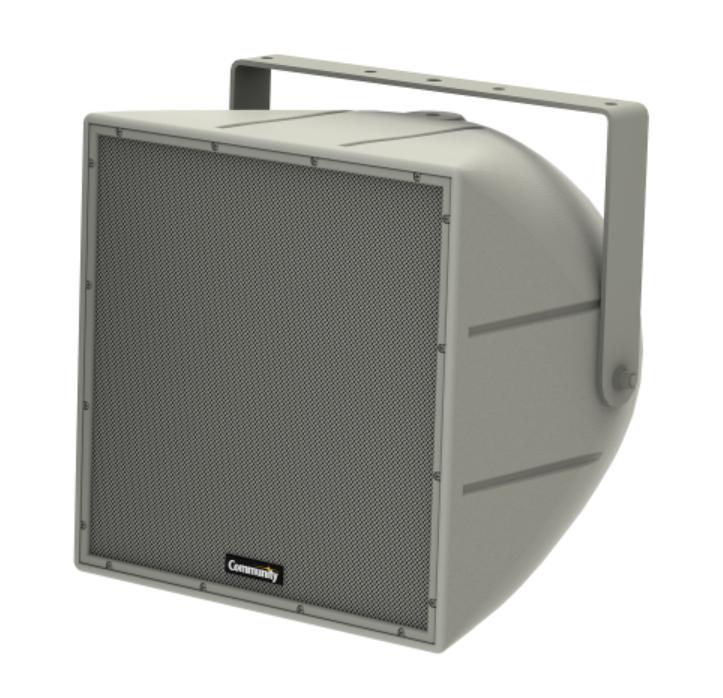 "12"" 200W Weather Resistant Full-Range 2-Way Coaxial Loudspeaker in White"