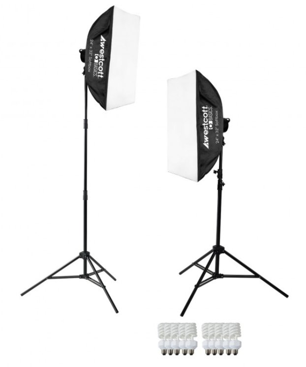 2-Light Daylight D5 Softbox Kit