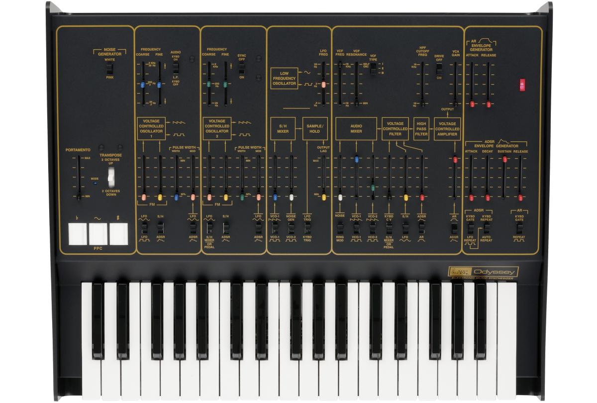 Duophonic Analog Synthesizer, Black/Gold