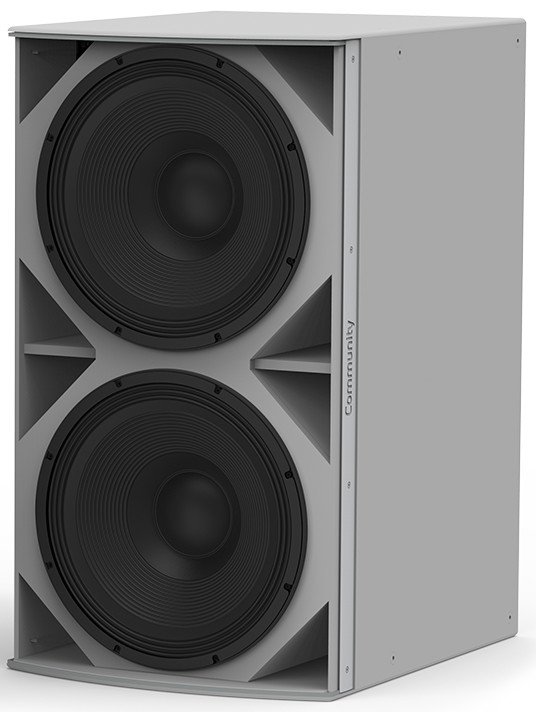 I Series Medium Power Dual 18-Inch Subwoofer Weather-Resistant Grey