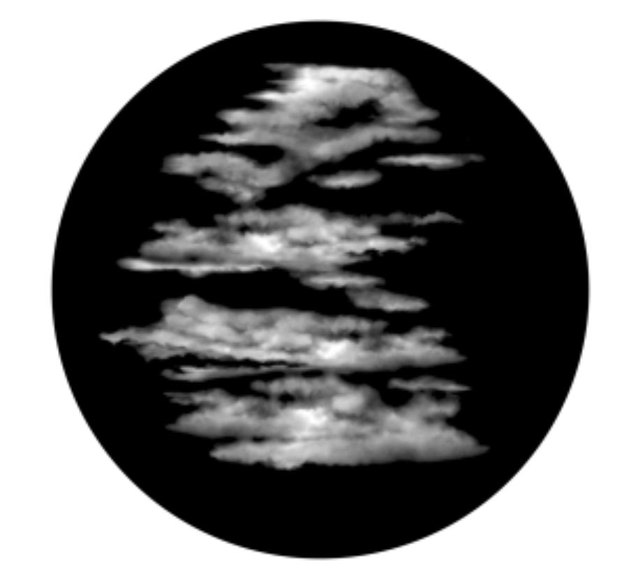 Foggy Skies Glass Gobo