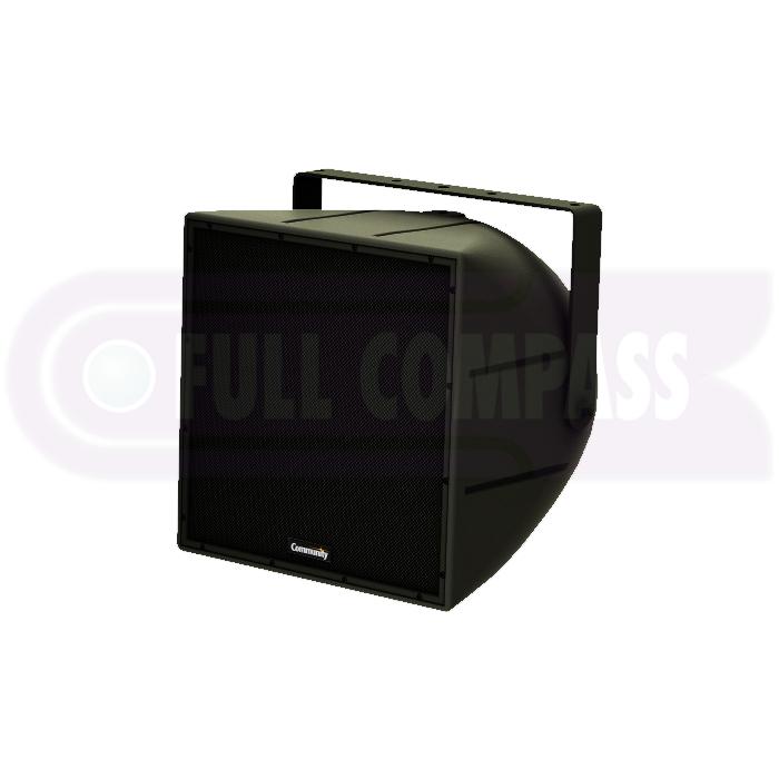2-Way Coaxial Weather-Resistant Full-Range Loudspeaker in Black