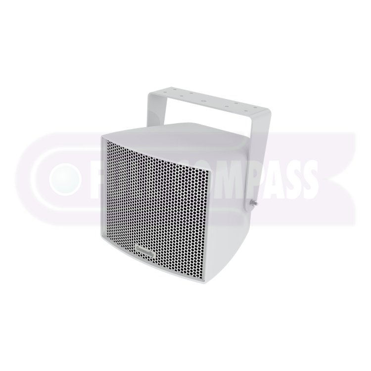 Full-Range 3-Way 8-Inch Weather-Resistant Loudspeaker in White