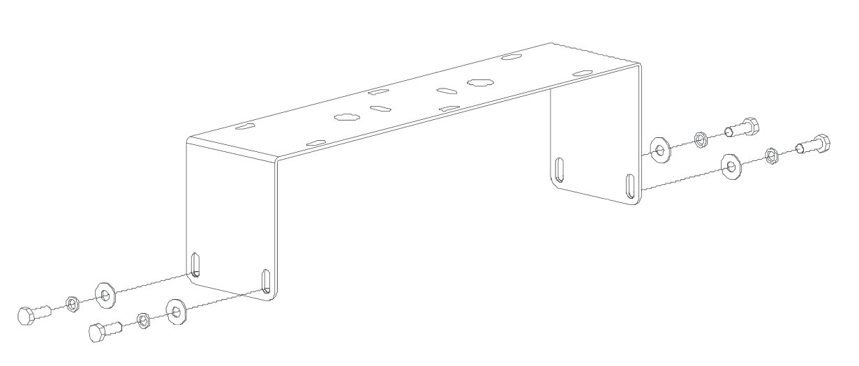 Yoke-Type Mounting Bracket in White