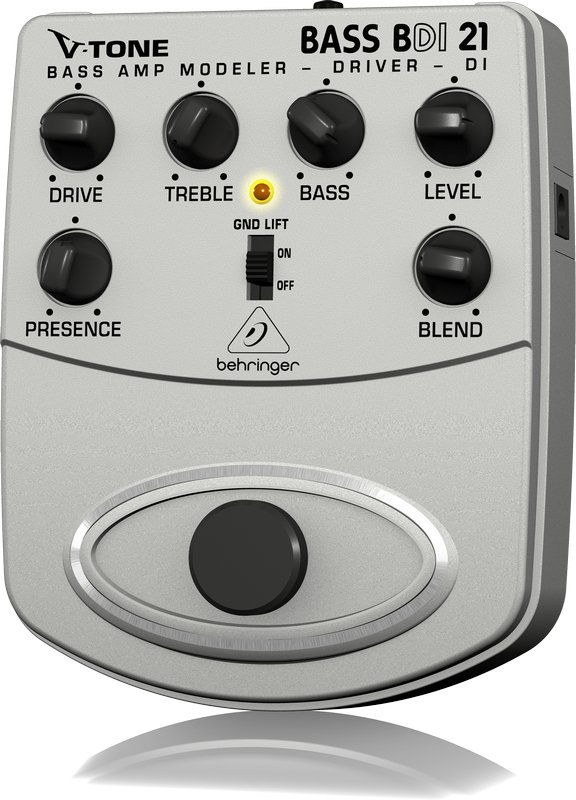 Behringer BDI21-V-TONE BASS Stomp Box, Bass Guitar/DI BDI21