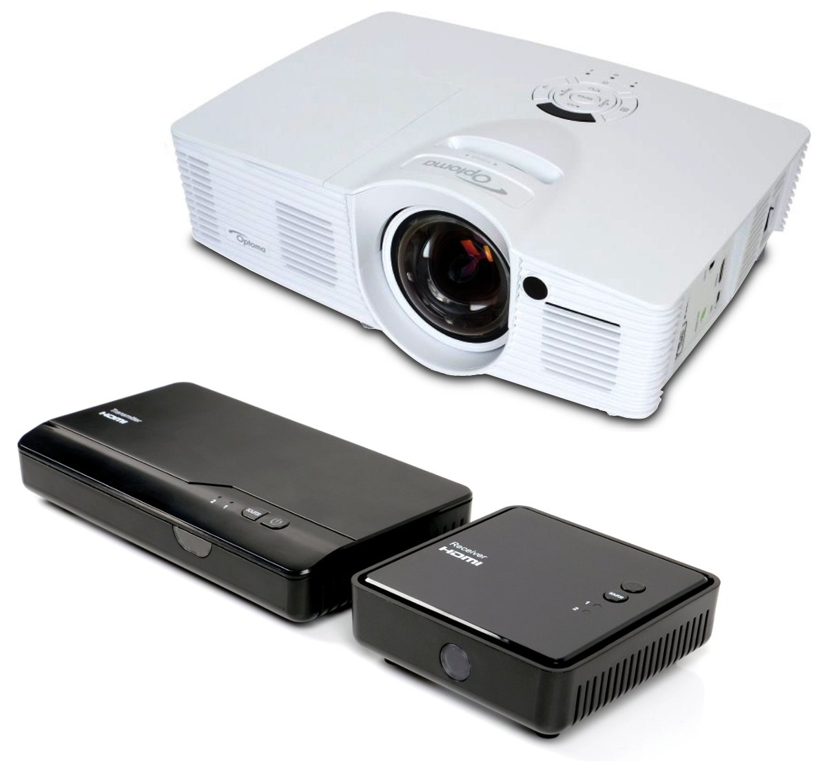 with GT1080 Projector and WHD200 Wireless HDMI Transmitter/Receiver Set