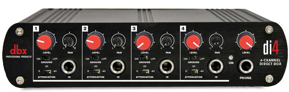 Active 4-Channel Direct Box That Converts Unbalanced Signals