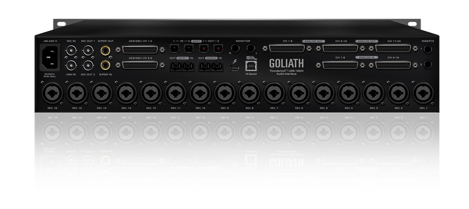 Thunderbolt / USB / MADI Audio Interface with 16 Microphone Preamps