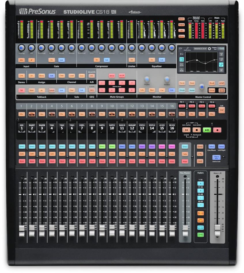 PreSonus AVB32AI Mix System [RESTOCK ITEM] Bundle, w/CS18AI Control Surface and RM32 Mixer AVB32AI-RST-01