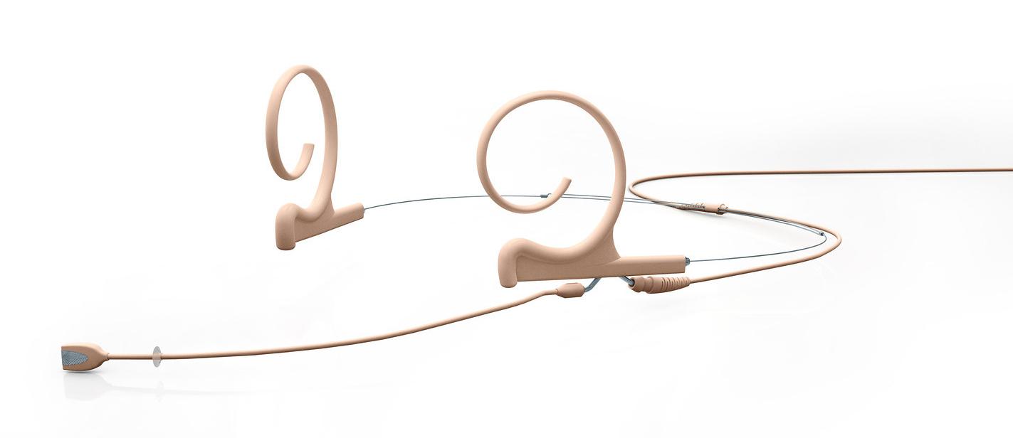 66 Dual-Ear Omni Headset Mic with Hardwired TA4F-Beige