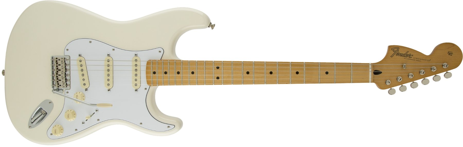 Special Edition Electric Guitar in Olympic White with Reverse Headstock and American Vintage '65 SSS Pickup Configuration