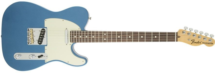Electric Guitar with SS Pickup Configuration in Lake Placid Blue