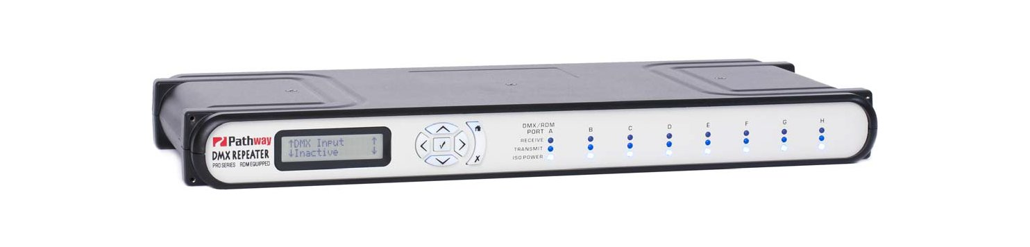 Fully Isolated 8-Way DMX Repeater Pro with Rear Terminal Configuration