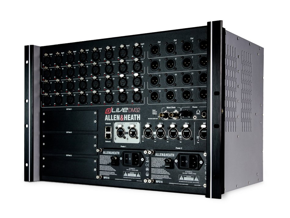 dLive I/O Box, 32 In x16 Out