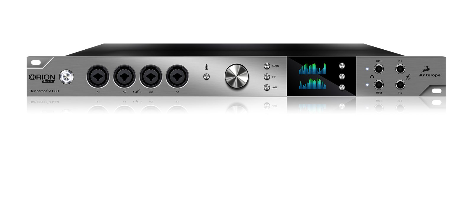 Thunderbolt / USB Audio Interface with 12 Microphone Preamps
