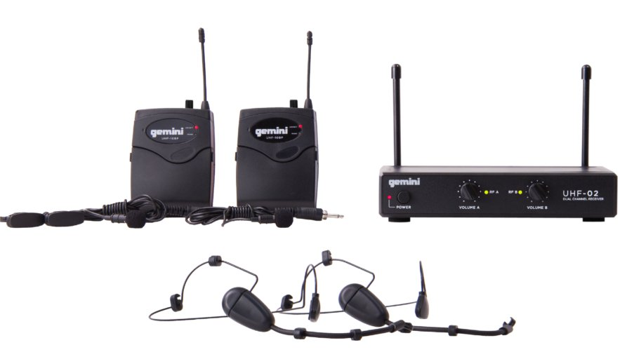 2-Channel Headset/Lavalier Wireless Microphone System