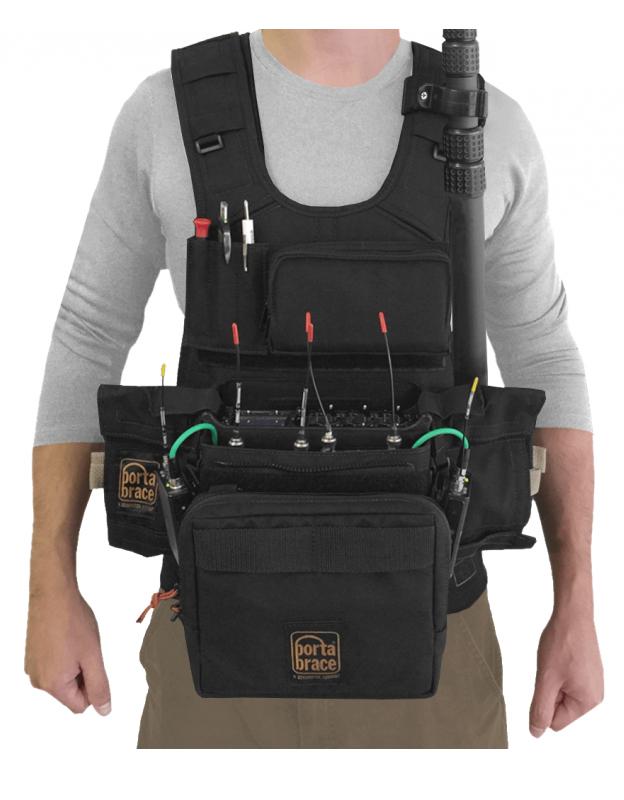 Audio Tactical Vest for Sound Devices 688, Black