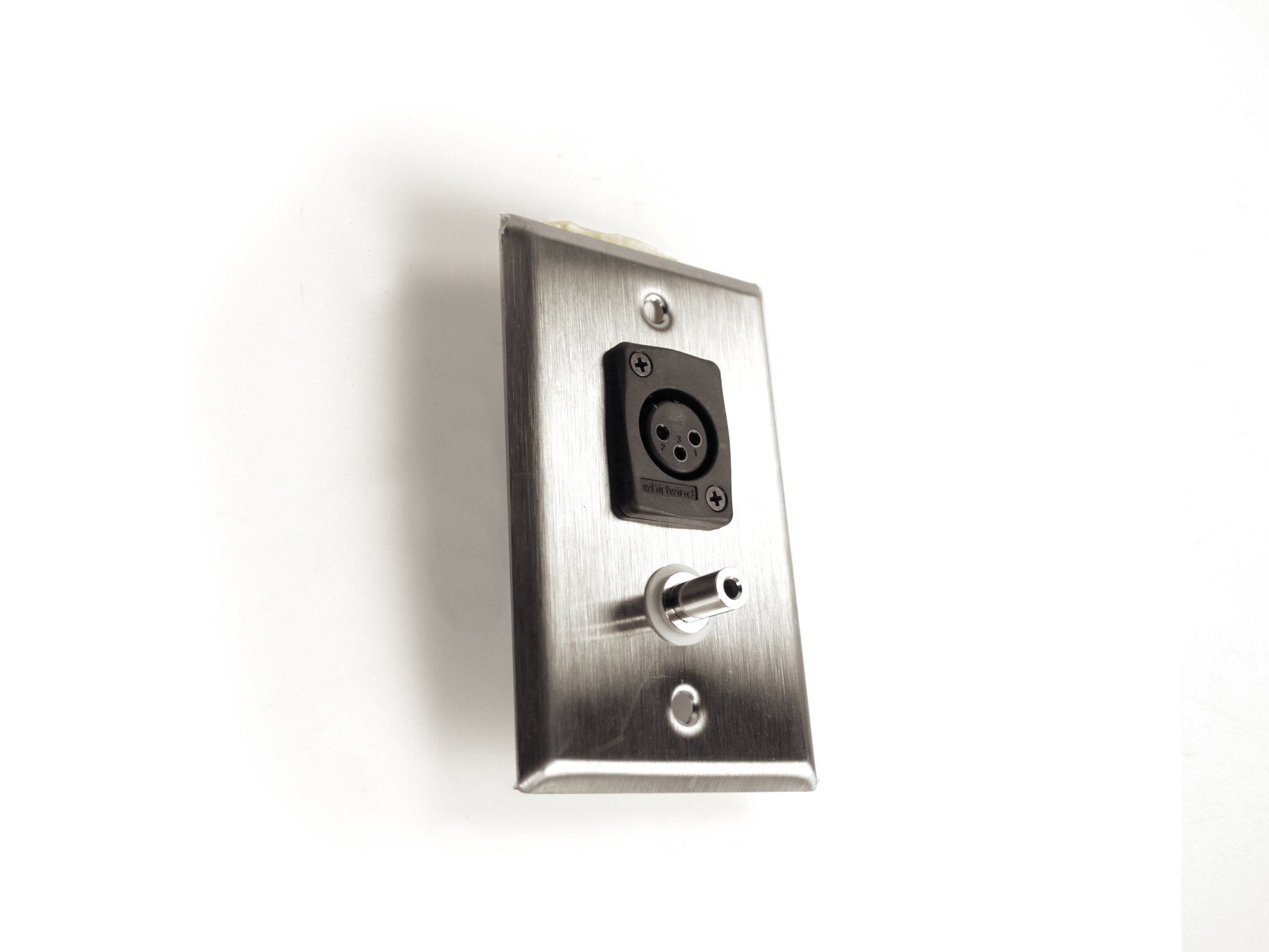 Anodized Aluminum Wallplate with XLRF & 3.5mm Connectors