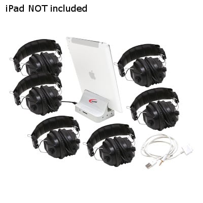 Califone International 1206i-06 6-Position iPad Jackbox and Listening Center 1206I-06