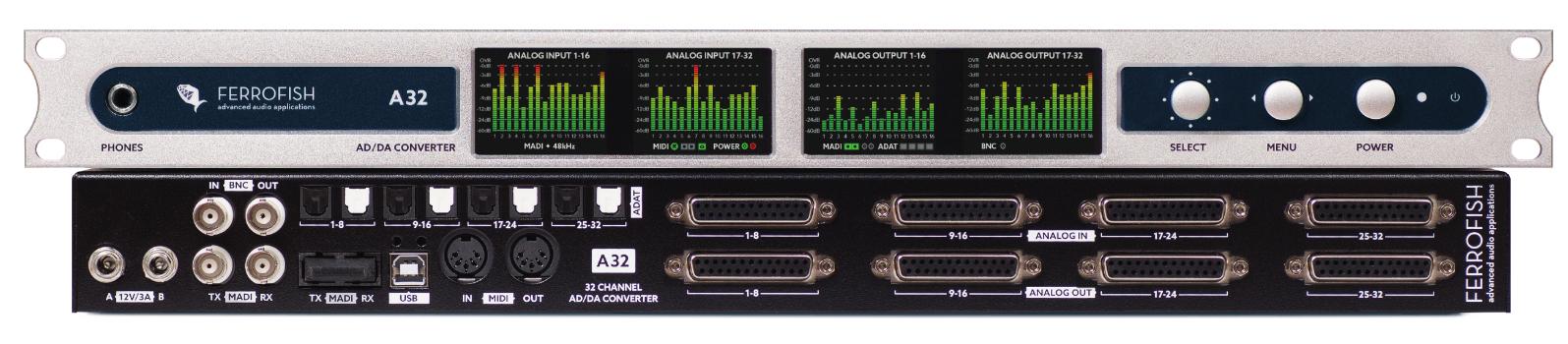 32x32 AD/DA Converter with Dante