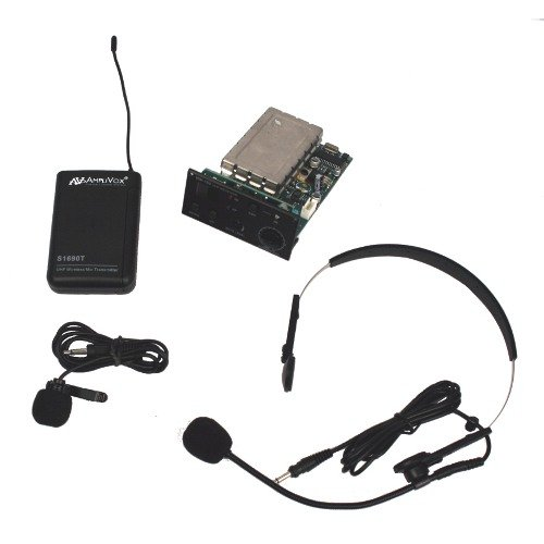 Wireless Receiver with Lapel, Headset Mic, & Transmitter