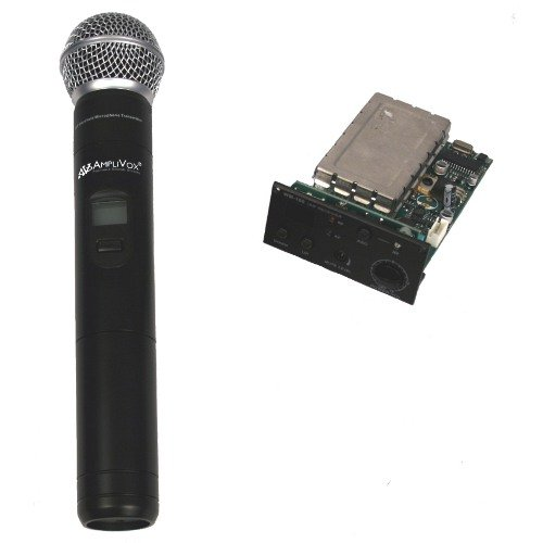 Wireless Receiver with Handheld Microphone and Transmitter