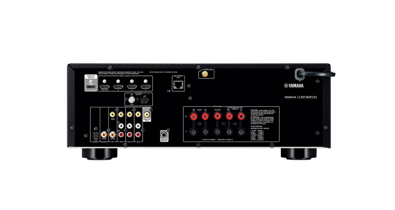 5.1-Channel 4K Ultra HD Network AV Receiver, Black