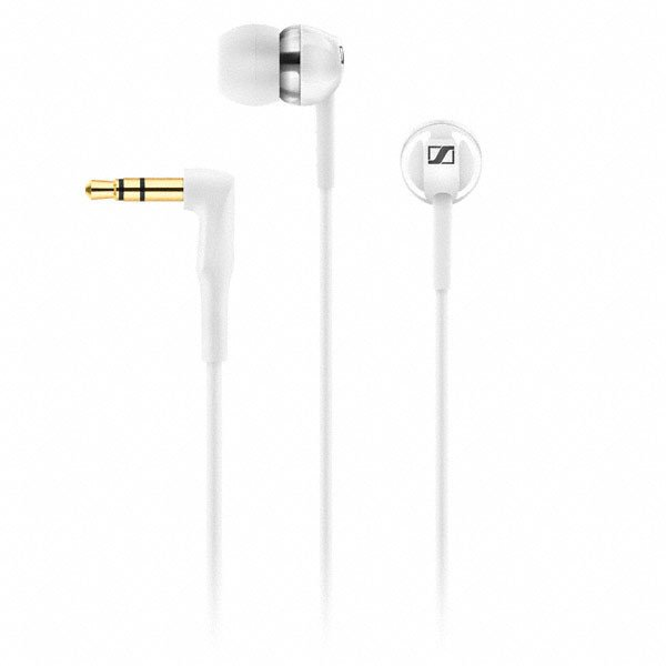 Sennheiser CX 1.00 Universal In-Ear Headphone, White CX100-WHITE