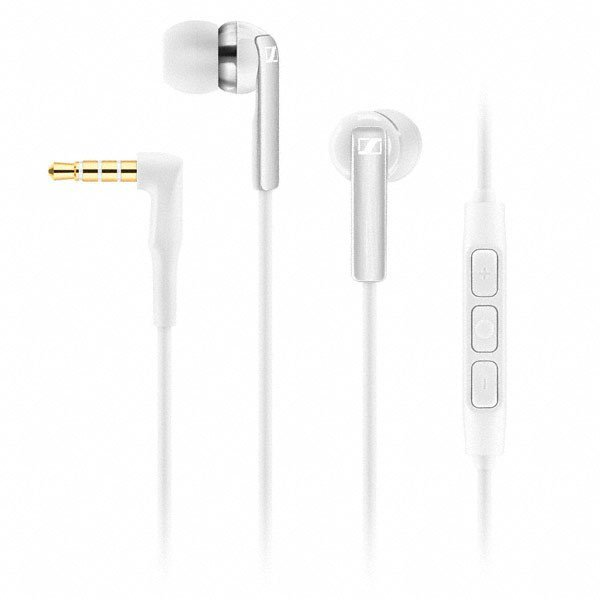 In-Ear Headphone with In-Line Control for Smartphones, White