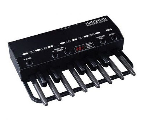 13-Note MIDI Pedal Board for XK-1, XK-2, and XK-3 Keyboards, Black