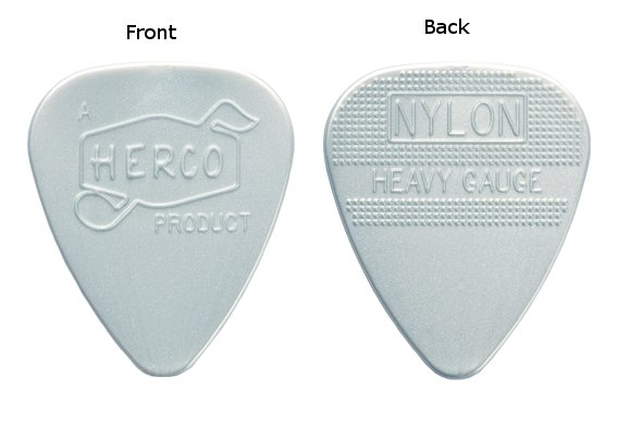 Herco Vintage '66 Heavy Guitar Picks
