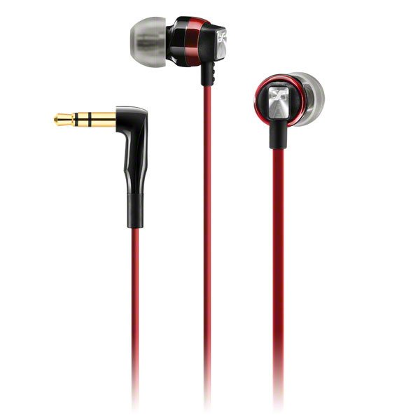 Universal In-Ear Headphone with Storage Case, Red