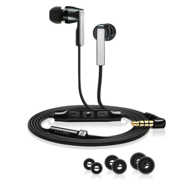 In-Ear Headphones with Integrated Smart Remote and Microphone, for Use with iOS Devices, Black