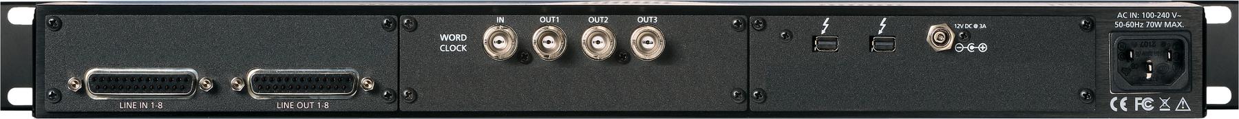 8-channel 24-bit / 192 kHz A/D D/A Converter System [Thunderbolt]