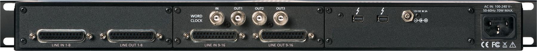 16-channel 24-bit / 192 kHz A/D D/A Converter System [Dante]