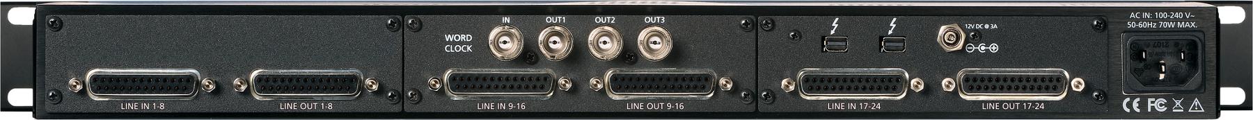 24-channel 24-bit / 192 kHz A/D D/A Converter System [Thunderbolt]