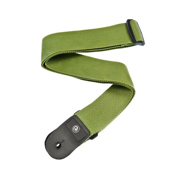 "35""-59.5"" Green Polypropylene Guitar Strap"