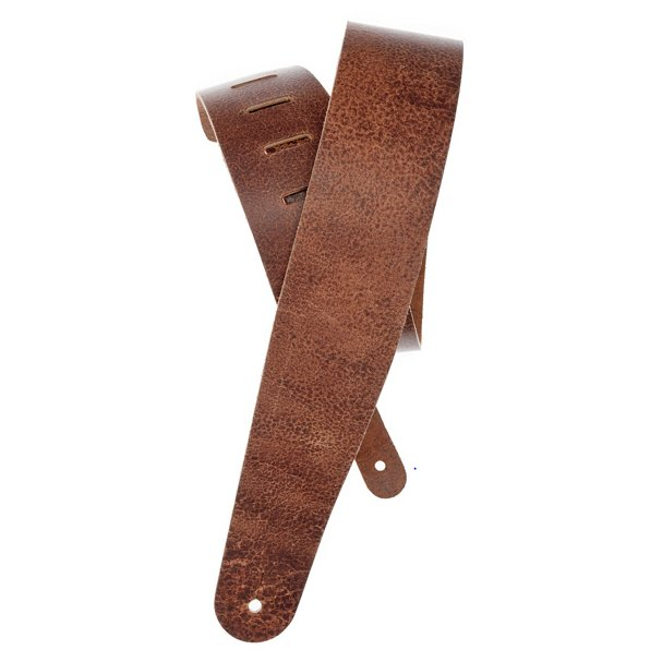 Blasted Brown Leather Guitar Strap