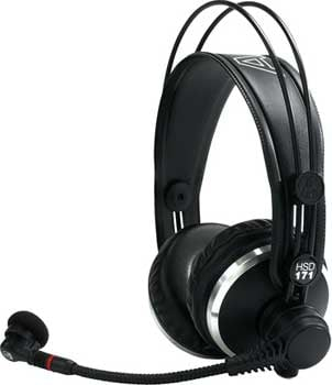 Professional Supraaural Headset with Microphone