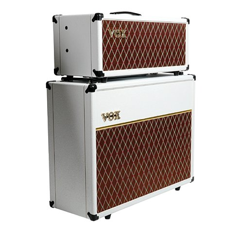 """with 2x12"""" Speaker Cabinet - Limited Edition White Bronco"""