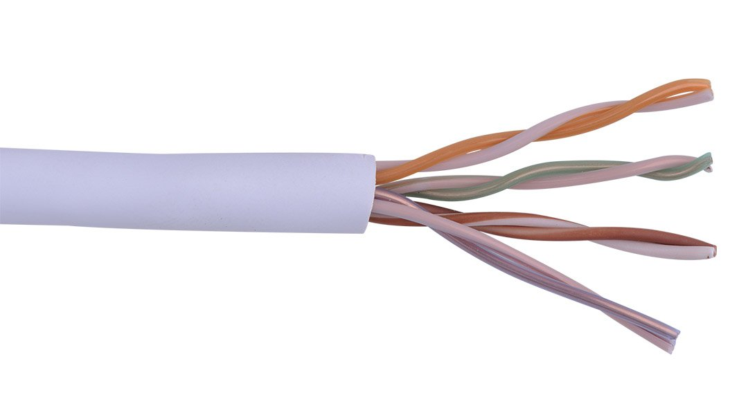 1000 ft Reel of Violet Cat5e EN Series 24 AWG Unshielded Cable