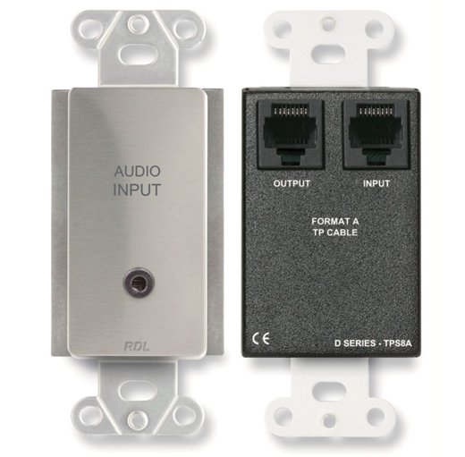 Radio Design Labs DS-TPS8A  Stainless Steel Active Two-Pair Audio Sender DS-TPS8A