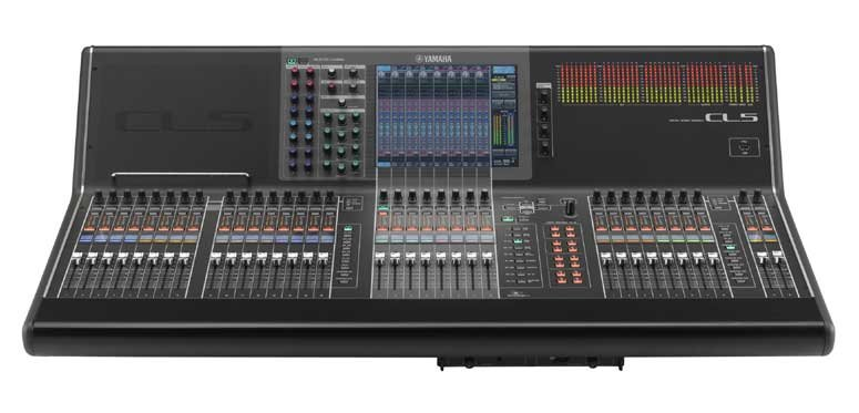 72+8 Digital Mixing Console with Dante Networking and Built-In Meter Bridge