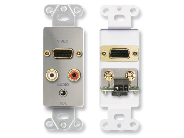 Audio/Video Monitor Jack Panel, DB15, Phono, Mini
