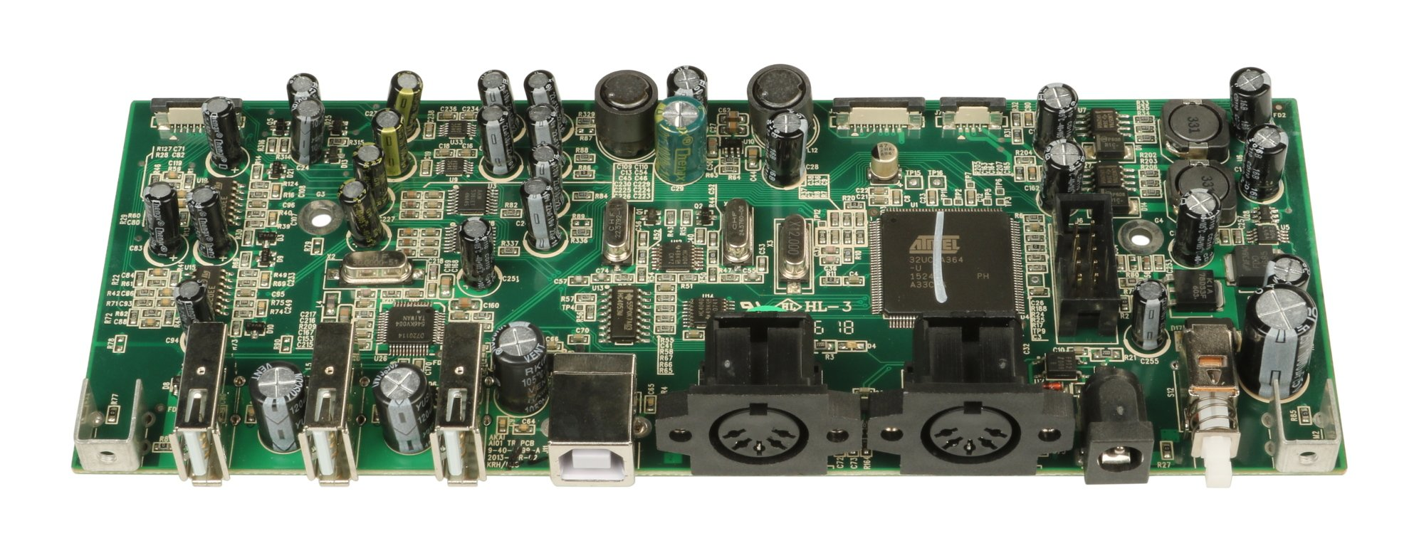 Top PCB Assembly with USB Jacks for EIE PRO